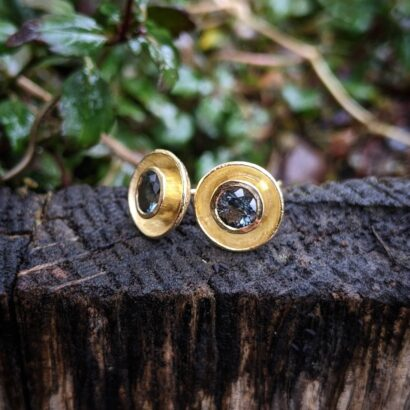 18ct gold cup studs